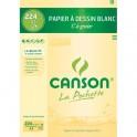 CANSON Pochette de 12 feuilles papier dessin blanc A4 180g