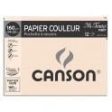 CANSON Pochette de 12 feuilles papier dessin MI-TEINTES 160g 24 x 32 cm noir