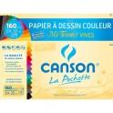 CANSON Pochette de 12 feuilles papier dessin MI-TEINTES vives assorties 160g 24 x 32 cm