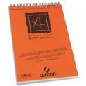 CANSON Album de 120 feuilles de papier dessin CROQUIS XL spirale 90g A4