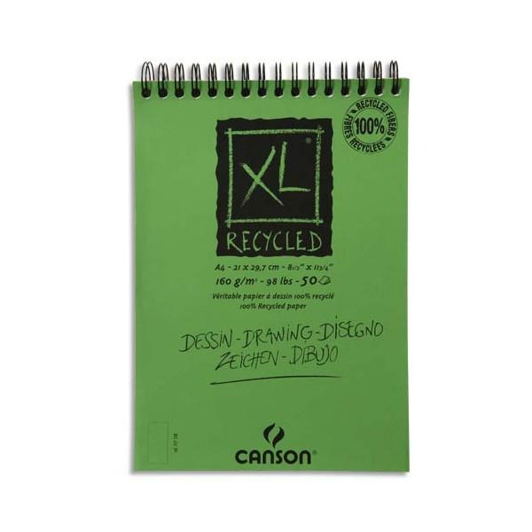 CANSON Album de 15 feuilles XL recyclé format A4 à spirale