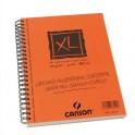 CANSON Album de 60 feuilles papier dessin CROQUIS XL spirale grand côté 90g A5