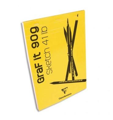 CLAIREFONTAINE Bloc de croquis Graf It format A4 80 pages microperforées 90g