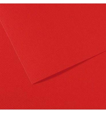 CANSON Manipack de 25 feuilles papier dessin MI-TEINTES 160g 50 x 65 cm rouge vif
