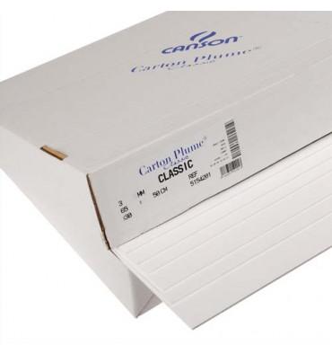 CANSON Feuille de carton plume blanc 70 x 100 cm épaisseur 5 mm