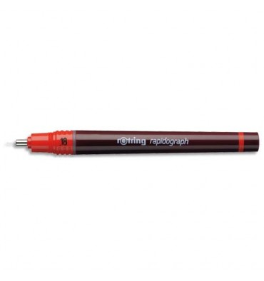 ROTRING Stylo technique RAPIDOGRAPH 0,18 mm rouge