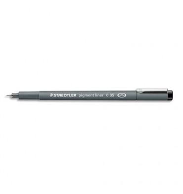 STAEDTLER Stylo feutre pointe calibrée baguée métal 0,05 mm, encre noire pigmentée infalsifiable résiste aux UV