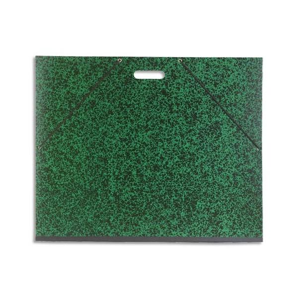 EXACOMPTA Carton à dessin vert avec poignée etélastique 59 x 72 cm