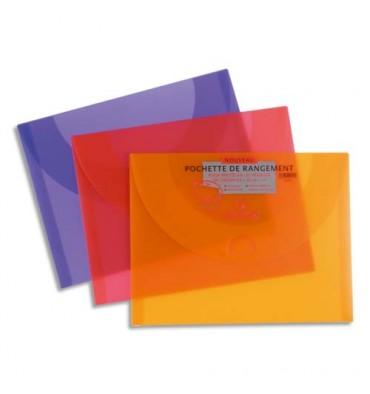 CANSON Pochettes de rangement format 27 x 35 cm en polypropylène PRIPLAK assortis