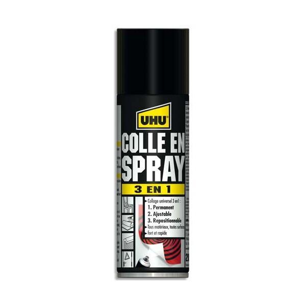 UHU Colle Universelle en Spray 3 en 1 de 200 ml