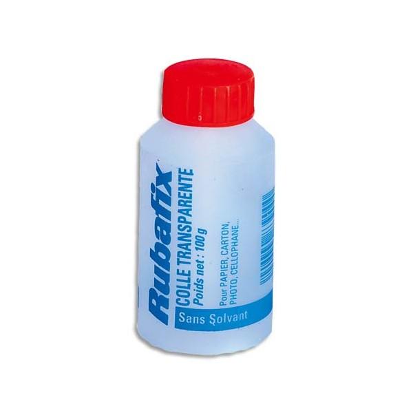 RUBAFIX Flacon de colle transparente avec pinceau incorporé, 100 g