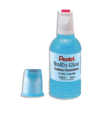 PENTEL Colle synthétique transparente flacon roulette de 55 ml