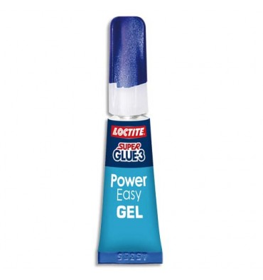 LOCTITE Super Glue-3 Power Easy Gel, Tube de colle rapide de 2 g