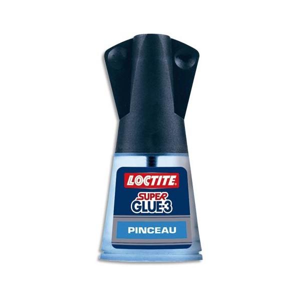 LOCTITE Super Glue-3, Flacon de Colle instantanée liquide avec pinceau applicateur 5 g