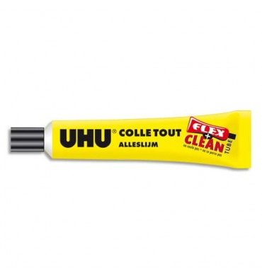 UHU Tube de 20g de colle liquide Flex and Clean avec solvant