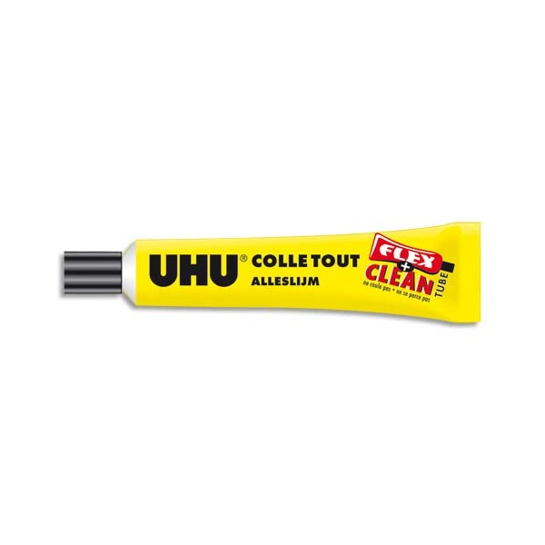 UHU Tube de colle liquide Flex & Clean avec solvant de 20 ml