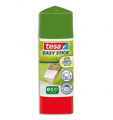 TESA Bâton de colle Easy Stick forme triangulaire et recyclé de 12 g