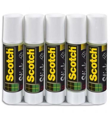 SCOTCH Lot de 5 Bâtons de Colle de 8 g