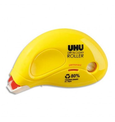 UHU DRY et CLEAN ROLLER jetable permanent 8,5 m x 6,5 mm
