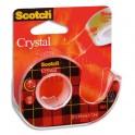 SCOTCH Ruban adhésif Crystal 600 sur dévidoir, 19 mm x 7,5 m
