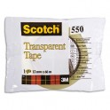 SCOTCH Ruban adhésif transparent 550 en sachet individuel 12 mm x 66 m