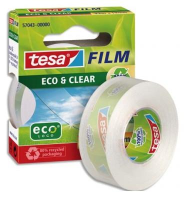 TESA Adhésif Eco & Clear grande transparence 33 m x 19 mm