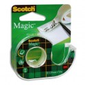 SCOTCH Ruban adhésif invisible Magic 810 sur dévidoir plastique 19 mm x 7,5 m