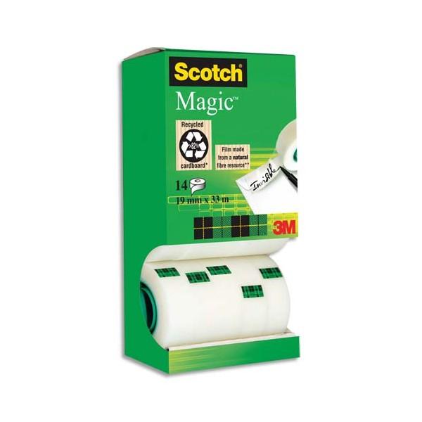 SCOTCH Tour de 12 + 2 rouleaux Scotch Magic 810 - 19 mm x 33 m