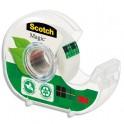 SCOTCH Dévidoir à main transparent en plastique recyclé à 90% avec rouleau Magic Tape Recyclé de 19 mm x 33 m