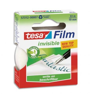 TESA Ruban adhésif invisible en boîte individuelle 19 mm x 33 m