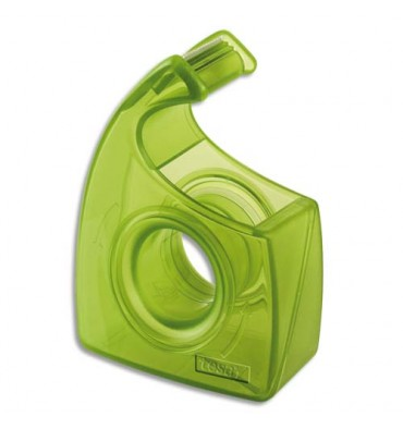 TESA Dévidoir escargot recyclé vert transparent Easy Cut