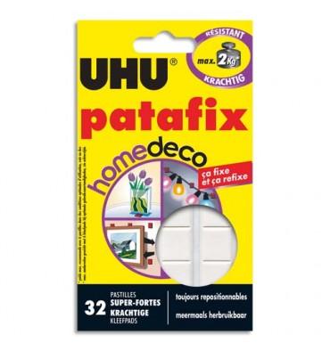 UHU Etui de 32 pastilles blanches Patafix Deco