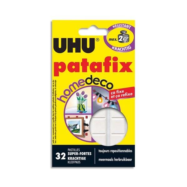 UHU Etui de 32 pastilles blanches Patafix Deco (photo)