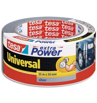 TESA Rouleau de toile adhésive renforcée 25 m x 50 mm coloris gris