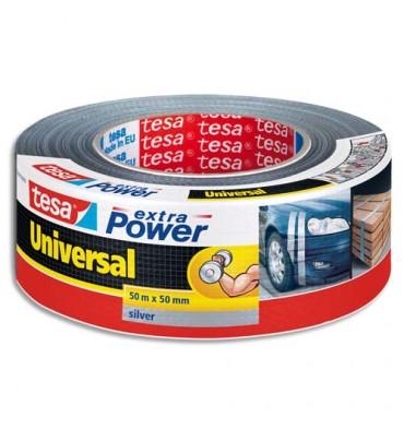 TESA Rouleau de toile adhésive renforcée 48 m x 50 mm coloris gris