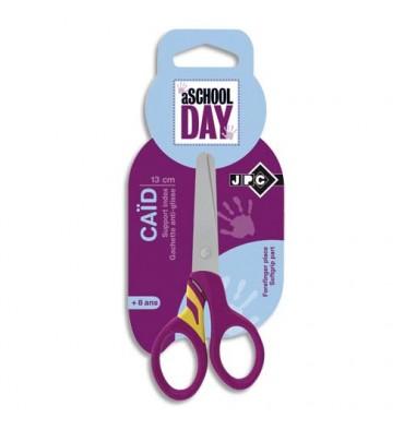 WONDAY Blister ciseaux CAID droitier 13 cm pour enfant lame inox, bouts arrondi et gachette anti-glisse