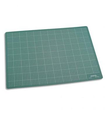 JPC Plaque de découpe verte 45 x 30 cm. Résistante à la coupe, surface quadrillée