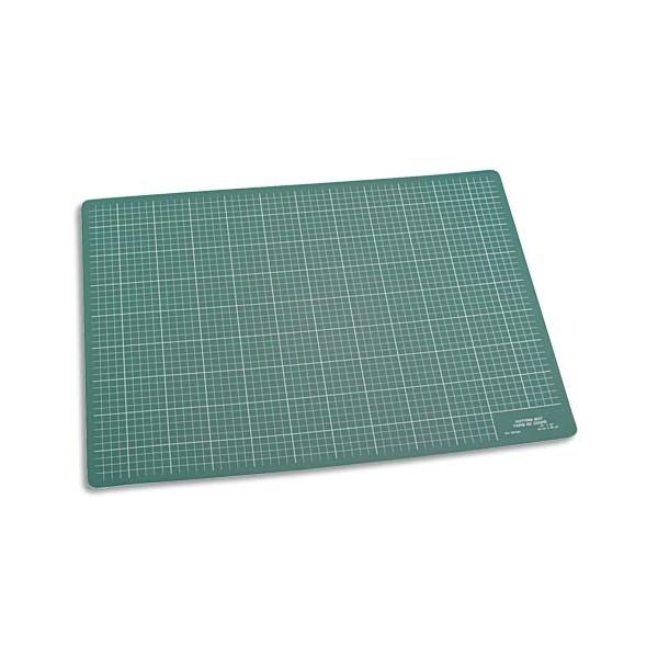 JPC Plaque de découpe verte 60 x 45 cm. Résistante à la coupe, surface quadrillée