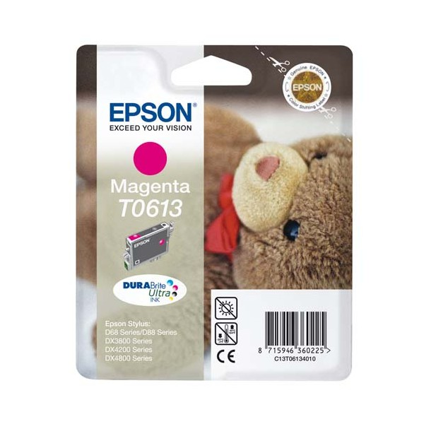 EPSON Cartouche jet d'encre magenta T0613