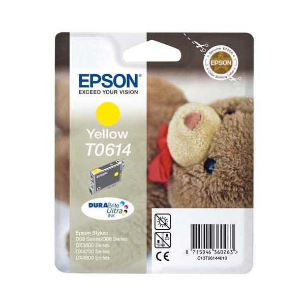 EPSON Cartouche jet d'encre jaune T0614