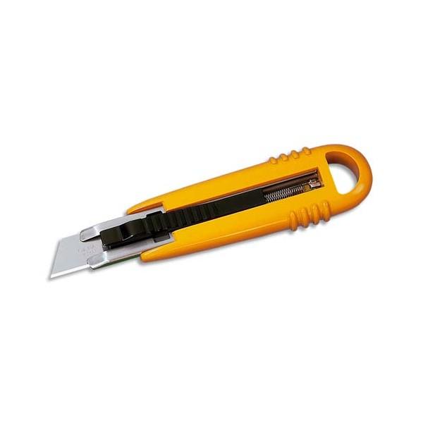 OLFA Blister de 5 lames trapèze pour cutter de sécurité SK4 rétractable dans le manche SIGN