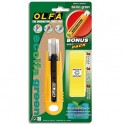OLFA Cutter de sécurité SK4 corps ABS 100% recyclé, lame 17,5 mm rétractable, ambidextre