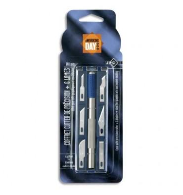 JPC Coffret cutter de précision 14 cm et 6 lames assorties
