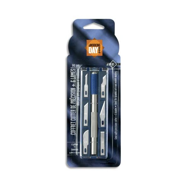 WONDAY Coffret cutter de précision 14 cm et 6 lames assorties