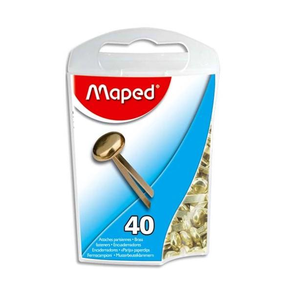 MAPED Boîte de 40 attaches parisiennes en laiton 17 mm