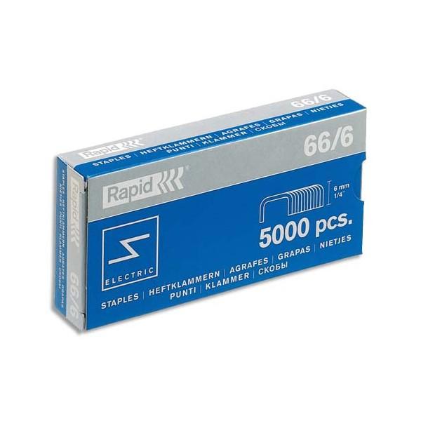 RAPID Boîte de 5000 agrafes Nº66/6
