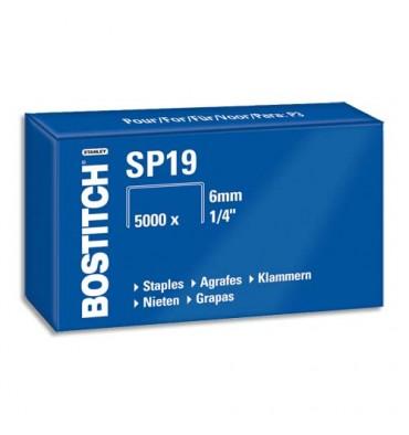 BOSTITCH Boîte de 5000 agrafes NºSP 19 06S