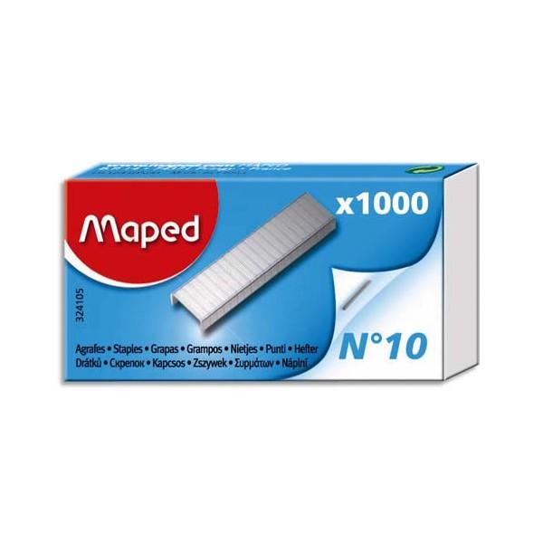 MAPED Boîte de 1000 agrafes N°10