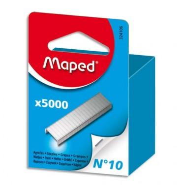 MAPED Boîte de 5000 agrafes N°10