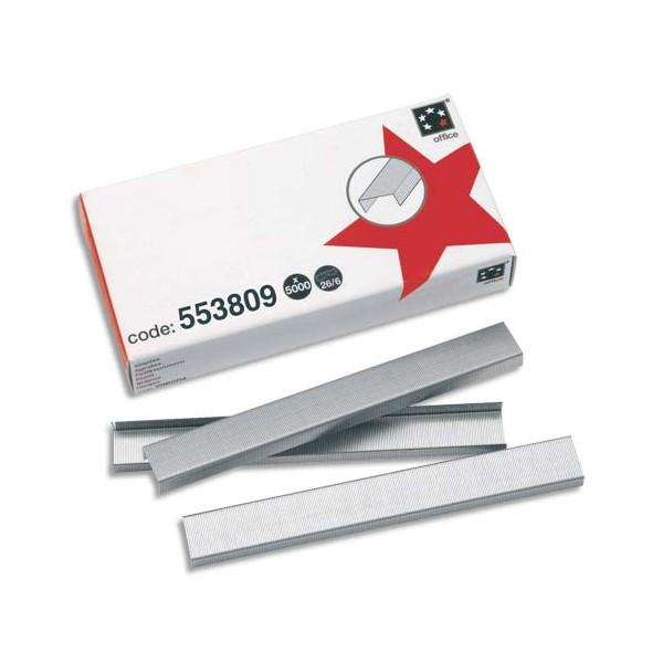 5 ETOILES Boîte de 5000 agrafes N°26/6 galvanisées (photo)